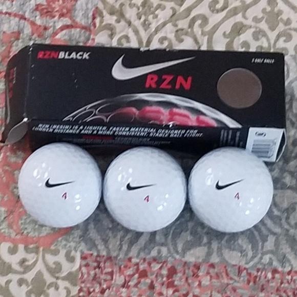 Nike Rzn Black >> Nike Other Rzn Black 3pack Golf Balls Whiteblack Swoosh Poshmark